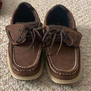 Brown Sperry top sider shoes
